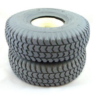 1 pair 260x85 3.00-4 Solid Block Mobility Scooter Tyres