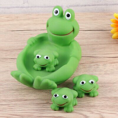 2 Sets Safe Cute Lovely Nontoxic Cartoon Frog Water Bath Toys Bathtub Water Toy