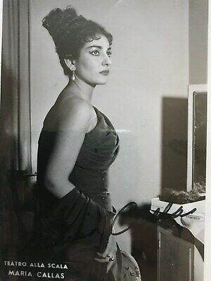 Maria Callas - Alceste Scala 1954 - Autografo Su Foto - Signed Photo