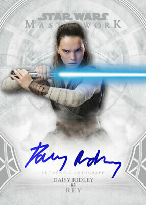 Topps Star Wars Card Trader Masterwork Core Autograph Daisy Ridley as Rey