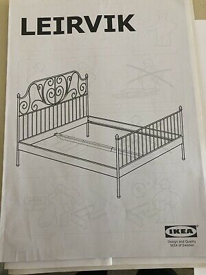 white double bed frame used