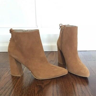 87b697f76f95 Stuart Weitzman Grandiose Camel Suede Pointy Toe Ankle Boot 10 (MSRP $525)  NWT