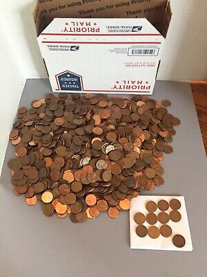 10 LBS Lincoln Memorial Copper Cents 1959-1981 PDS. 95% Copper Penny. Plus BONUS