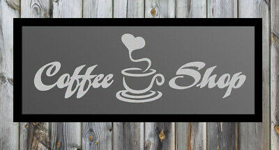 Coffee Shop Quote Silver Frosted Etched Glass Vinyl Wall Sticker Decal