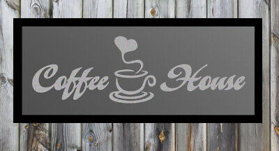 Coffee House Quote Silver Frosted Etched Glass Vinyl Wall Sticker Decal
