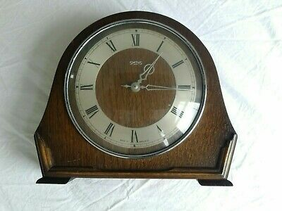 Smiths 8-Day Mantle Clock Midcentury Wind-Up