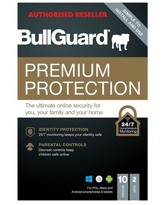 BullGuard 2019 Premium Protection Internet Security 3 Users 2 Years PC/MAC