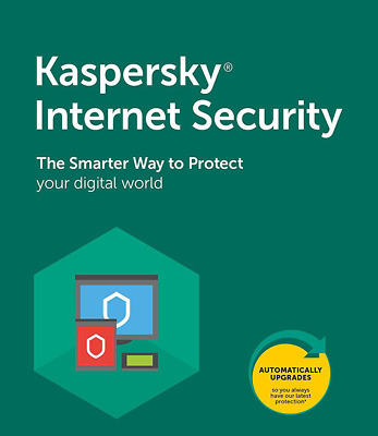 Kaspersky Internet Security 2020 1 Users Antivirus UK - NEW & RENEW LICENCE