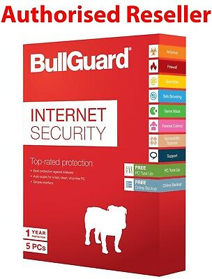 Download BullGuard 2019 Internet Security 5 Users 1 Year Genuine License PC/MAC