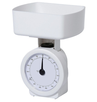 SALTER TESCO Kitchen Scale Mechanical Dial White Compact Bowl Cook Bake 3kg Max
