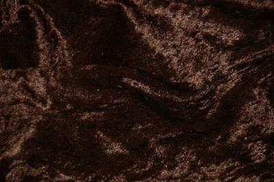 """Brown Velvet Panne  Crushed Backdrop Velour Stretch Fabric 60"""" Wide"""
