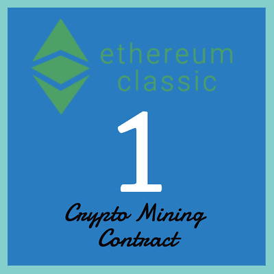 Ethereum Classic 1 ETC | MINING CONTRACT | Crypto Currency | Top Coinmarketcap