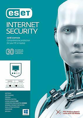 Eset Nod32 Antivirus / Internet Security V12 2019 - 2 Year / 1 PC Key Global