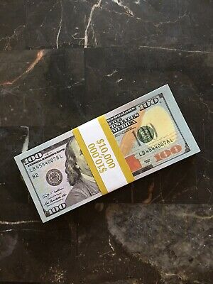 100 Pcs USD Paper $100 Dollar Bills Fake Currency Money Note Banknote Gift US ..