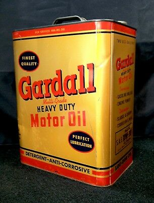 Vintage 1930's 1940's Gardall 2 Gallon Old Metal Motor Oil Can Very Nice RARE