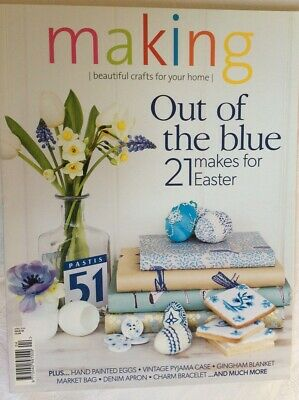 Crafts Sewing Making Magazine 2014 Apr Iss 46 Easter Eggs Charm Bracelet Denim A