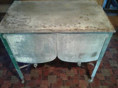 Antique Ideal Double Basin Wash Tub on Wheels