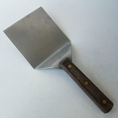 Griddle Spatula Wood Handle Large 5-Inch Wide Blade Grill