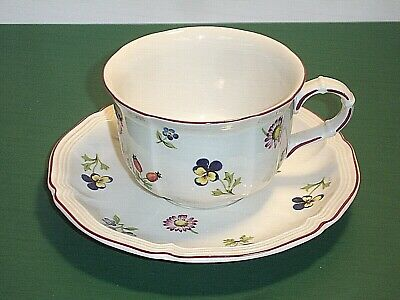 Villeroy & Boch Luxembourg Petite Fleur Breakfast Cup and Saucer