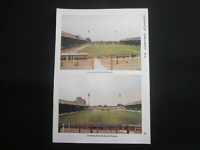 BRISBANE RD (Leyton Orient), SINCIL BANK (Lincoln):1989 Football Ground Pictures