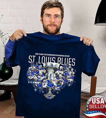 HOT St. Louis Blues 2019 Champions First Stanley Cup In Frachise History TShirt