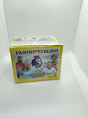 Football Panini Tabloid Premier League Stickers, Full Unopened Box Of 50 Packets