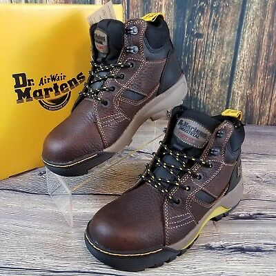 eacc9d256ea DR. MARTENS GRAPPLE ST Steel Toe Brown Leather Work Boots 21736214 Size 7