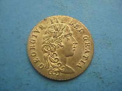 (16C) 1797 GUINEA GOLD COLOURED SOVEREIGN GAMING TOKEN COIN GEORGE 3rd