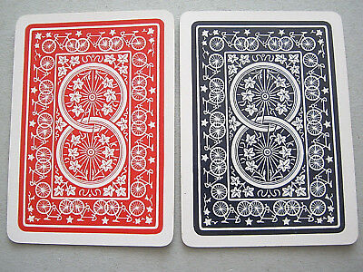 ANTIQUE PLAYING CARDS 2 SINGLE SWAP CARD WIDE GOODALL MULTI BICYCLE DESIGN 1890s