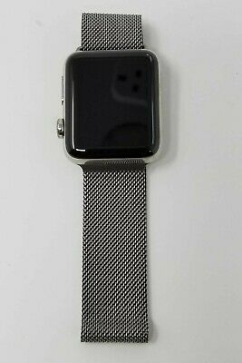 Genuine Stainless Steel Apple Watch Milanese Loop Band - 38MM - Authentic OEM