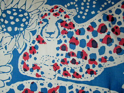 """Vtg """"THE LILLY"""" PULITZER Womens M Pants Animal Print Red White Blue Floral 70s"""