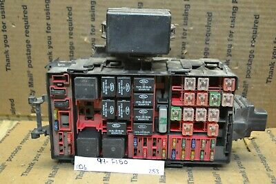 99-00 ford f150 fuse box junction oem xf2t14a003aa module 253-11d6