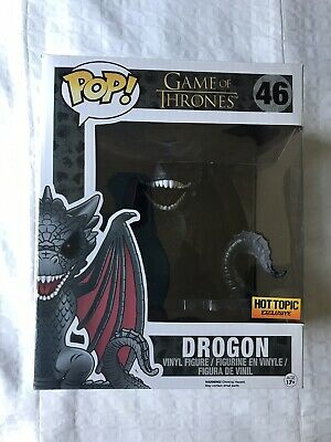 "Funko Pop! Game of Thrones 6"" Red Eyes Drogon #46! Hot Topic Exclusive!"