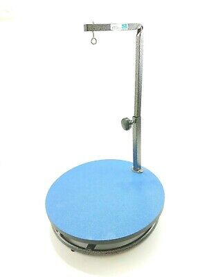 """Master Equipment Small Pet Grooming Table Blue 18"""" Wide Swivel Base"""