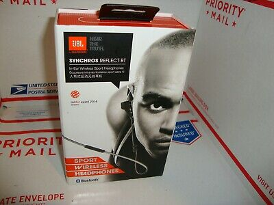 7ed79204959 JBL Synchros Reflect BT In Ear Buds Bluetooth Sport Headphones EarBuds Black  New