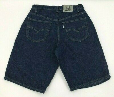 96e1ccc1019 Vintage Levis SilverTab Baggy Shorts Mens Size 31 Dark Blue Jean Pleated