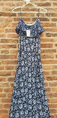 🔥💙🌺BRAND NEW WITH TAGS OASIS Blue Floral Maxi Dress Medium RRP £50🌺💙🔥