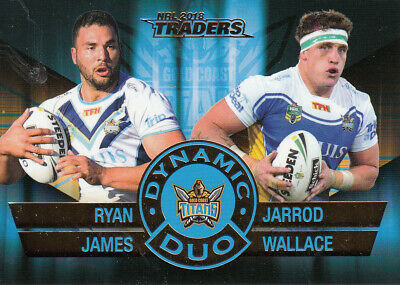 2018 Nrl Traders Dynamic Duo - Dd1 James & Wallace Gold Coast Titans #035 Of 100