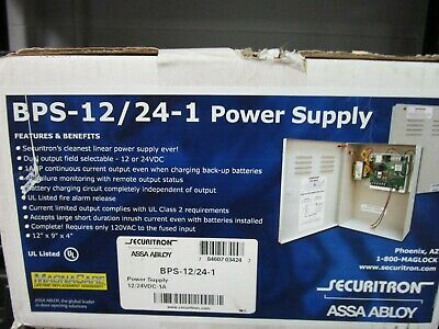 Securitron Assa Abloy BPS-12/24-1 Power Supply BRAND NEW