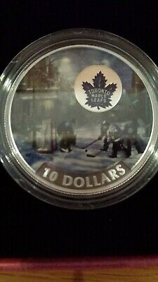 2017 Canada coin $10 passion to play Toronto Maple Leafs NO RESERVE NO TAX