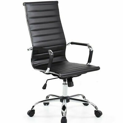 Modern Designer Office Executive Swivel Chair Pu Leather Computer Desk Seat Task