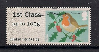 GB 2012 QE2 1st Post & Go up to 100 gms Christmas Robin Used ( 35 )