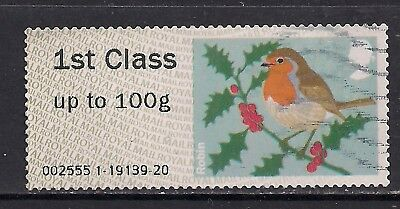 GB 2012 QE2 1st up to 100 gms Post & Go Christmas Robin ( J691 )