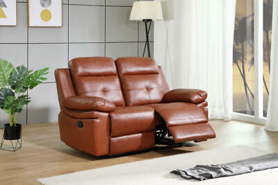 York Leather  2 Seater Recliner Sofa