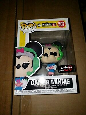 Funko pop gamer minnie mouse Gamestop exclusive disney