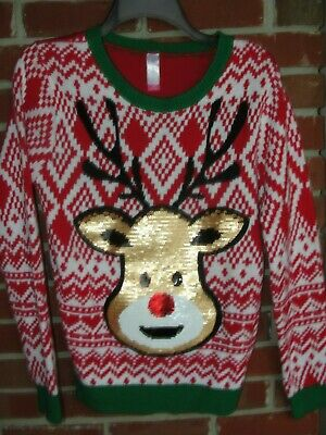 Junior Ugly Christmas Sweater No Boundaries Large 11-13 NWT
