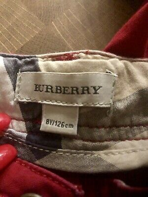 Burberry Designer Girls Trousers. Red Age 8yrs