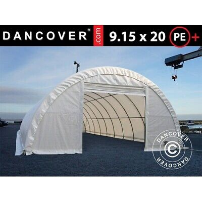 Arched storage tent 9.15x20x4.5m, PE, White