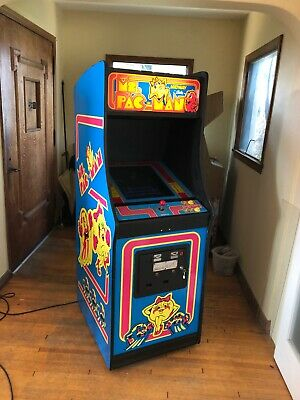 Original Vintage 1982 Midway Ms Pacman Arcade Machine w/ added 60 in 1 game play