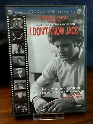 I Don't Know Jack - David Lynch Presents - DVD 2002 -Special Collector's Edition